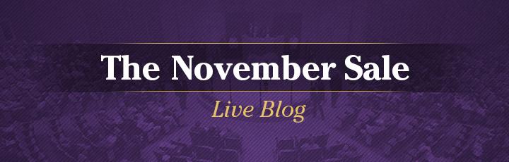 Live Blog: The NovemberSale