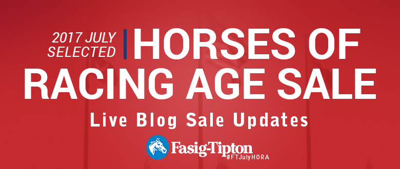 Live Blog: July Selected Horses of Racing AgeSale